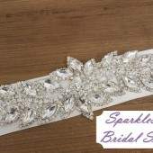 Willow Bridal Sash - SparkleSM Bridal Sashes