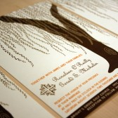 Cascading Willow Tree Wedding Invitation