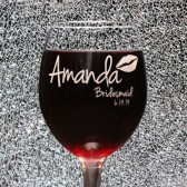 Bridesmaid Gifts Persoanlized wine glasses