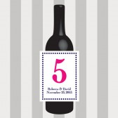 Circle Table Number Wine Labels