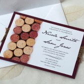 Wine Cork Wedding Invitation
