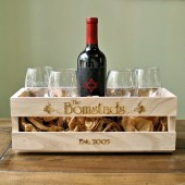 Personalized Wine Crate & Glasses