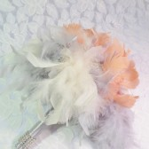 Winsome Feather Brooch Bouquet
