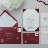 Winter Snowflakes Wedding Invitation