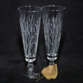 Winter tree branches fluted pilsners
