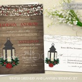 Winter wedding suite with lanterns and greenery!