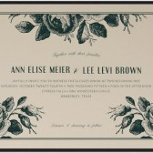 Wood Block Roses Invitation, rustic wedding invitation, vintage wedding invitation, custom invitation, rose invitation