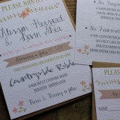 Wood Grain Wedding Invitation