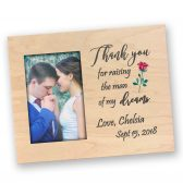 Mother of the groom gift - Mother in law gift idea - Thank you wedding gift - Thank you for raising the man - Personalized picture frame