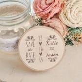 Snowflake Save the Date or Favor Magnet