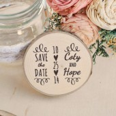 Swirl Favor or Save the Date magnet