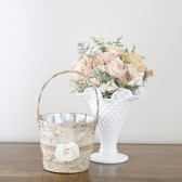 Woodland Birch Bark Flower Girl Pail
