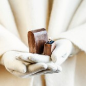 Wood ring box - engagement ring box by Woodstorming