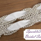 Yardley Bridal Sash - SparkleSM Bridal Sashes