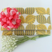 Yellow and Gray Bridesmaid Clutch with Flower