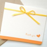 Yellow Wedding Thank You Cards