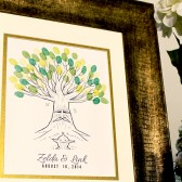 Zelda Deku Tree Thumbprint Tree Guestbook