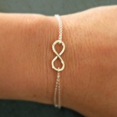 Sterling Silver Infinity Bracelet Bridesmaid Gift Bridal Jewelry