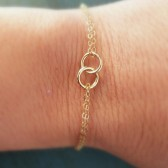 Eternity Bracelets, in Silver, Rose Gold or Gold