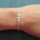Two Peas in a Pod Bracelet, choose your pearl colors
