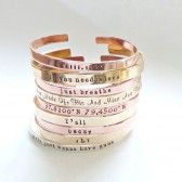 Copper, Brass Cuffs: Custom made to anything you like!