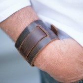 Monogramed Leather Cuff