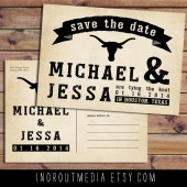 Longhorn Rustic Save the Date