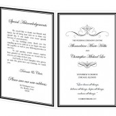 Wedding Program Template - Alexandrine Design