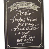 Choose a Seat Chalkboard for your wedding