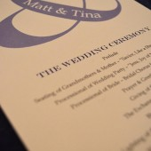 Ampersand Wedding Program