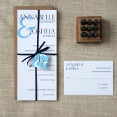 Typography Wedding Invitations