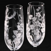 Dragonfly Wedding Champagne Flutes
