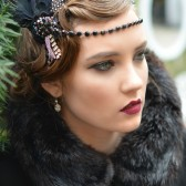 Black Gatsby Headpiece