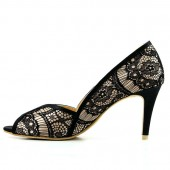 Black Lace Bridal Shoes