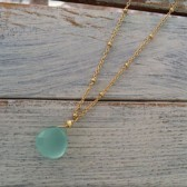 Gold Aqua Drop Necklace