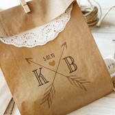 Arrow Monogram Wedding Favor bags - Large Size