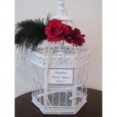 Art Deco Wedding Birdcage Card Holder