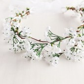 Baby's Breath Crown, White Bridal Halo, Fairy Crown, Boho Crown