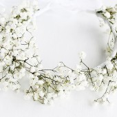 Baby's Breath Crown, Rustic Halo, Natural Bridal Halo, Woodland Circlet, Baby's Breath Wreath, Gypsophila Crown