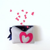 heart makeup bag, choose your colors