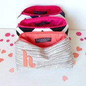 personalized monogram cosmetic bags
