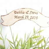 Wedding Cake Topper (custom made). Rustic and personalized with Wedding date