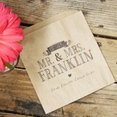 Mr and Mrs Cookie Bag Favor