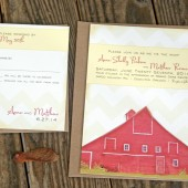 Red Barn Wedding Invitation