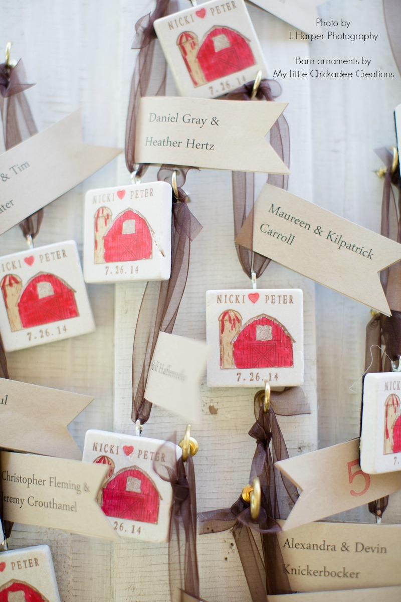 Using Wedding Favors as Table Seating Assignments