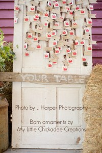 Wedding Favors as Table Seating Assignments