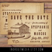 Rustic Barn Save the Date