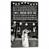 first dance with lyrics on custom canvas
