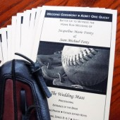 Baseball Ticket Wedding Program