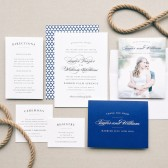 The Elegant Vintage wedding invitation is timeless and charming. Featuring luxurious typefaces and a stunning pattern on the back of the invite, make it your own by customizing the fonts and colors!